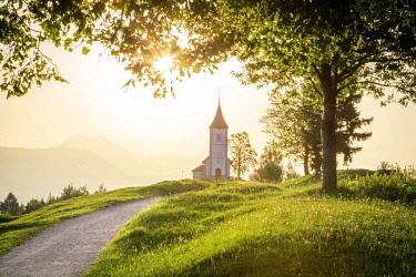 CLKST67338 The iconic Jamik church, Jamnik, Kranj, Upper Carniola, Slovenia.