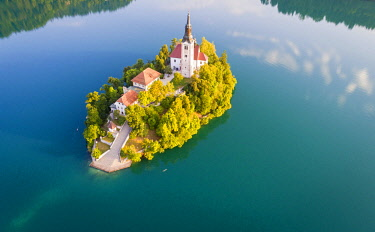 CLKST67382 Bled Island and Lake Bled. Bled, Upper Carniolan region, Slovenia.
