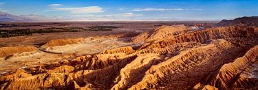 CHI10872AW Mars Valley or Death Valley, elevated view, San Pedro de Atacama, Atacama Desert, Antofagasta Region, Chile
