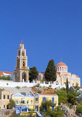 GRE1591AW Greece, Symi, Yialos. The church of Evaggelistria (also known as Evaggelismos)