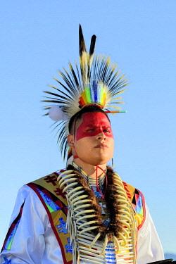 USA12914AW North America, USA, Great Plains, Montana, Bear Paw Battlefield, Nez Perce National Historic Park, Robert Yellowhawk, Lakota, MR 0596