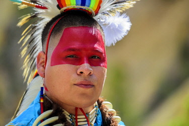 USA12925AW North America, USA, Rockie Mountains, Rockies, Montana, Yellowstone National Park, UNESCO, World Heritage, Robert Yellowhawk, Lakota, MR 0596