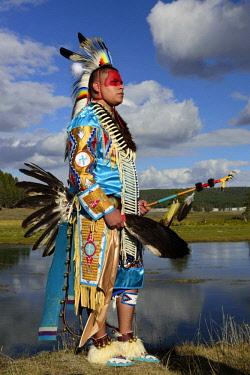 USA12926AW North America, USA, Rocky Mountains, Rockies, Montana, Yellowstone National Park, UNESCO, World Heritage, Robert Yellowhawk, Lakota, MR 0596