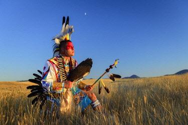USA12930AW North America, USA, Great Plains, Montana, Bear Paw Battlefield, Nez Perce National Historic Park, Robert Yellowhawk, Lakota, MR 0596