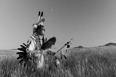 USA12932AW North America, USA, Great Plains, Montana, Bear Paw Battlefield, Nez Perce National Historic Park, Robert Yellowhawk, Lakota, MR 0596