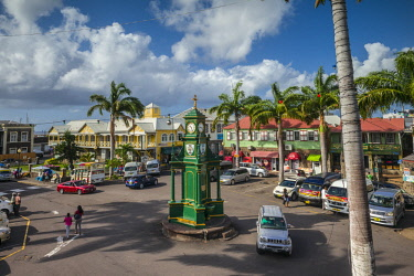 KT01029 St. Kitts and Nevis, St. Kitts, Basseterre, The Circus Clocktower