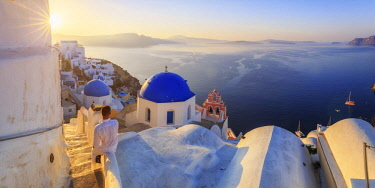 Greece, Cyclades, Firostefani and Santorini Caldera