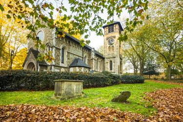 UK11219 St. Pancras Old Church, Kings Cross, London, England, UK