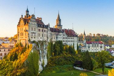 GER10436AW Sigmaringen Castle, Sigmaringen, Baden-Württemberg, Germany.
