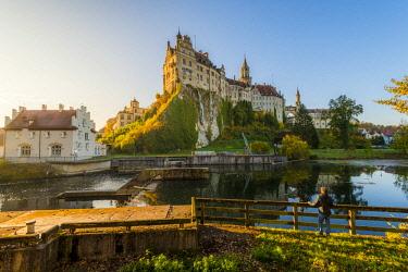 GER10439AW Sigmaringen Castle, Sigmaringen, Baden-Württemberg, Germany (MR).
