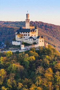GER10491AW Marksburg Castle, Braubach, Rhein-Lahn-Kreis, Rhineland-Palatinate, Germany.