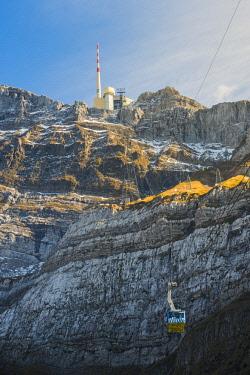 SWI8018AW The summit of mount Säntis, Schwägalp pass, Switzerland.