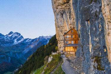 SWI8030AW Berggasthaus Aescher-Wildkirchli, Ebenalp, Appenzell Innerrhoden, Switzerland
