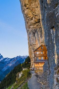 SWI8031AW Berggasthaus Aescher-Wildkirchli, Ebenalp, Appenzell Innerrhoden, Switzerland
