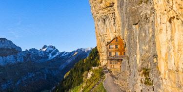SWI8035AW Berggasthaus Aescher-Wildkirchli, Ebenalp, Appenzell Innerrhoden, Switzerland