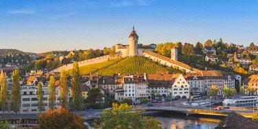 SWI8064AW Munot fortress and vineyards, Schaffhausen, Switzerland.