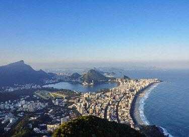 BRA3635AWRF Cityscape seen from the Dois Irmaos Mountain, Rio de Janeiro, Brazil