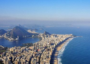 BRA3612AW Leblon and Ipanema Neighbourhoods seen from the Dois Irmaos Mountain, Rio de Janeiro, Brazil