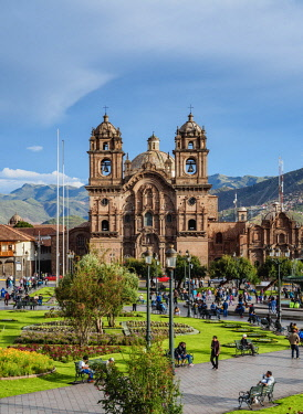 PER34221AW Church of the Society of Jesus, Main Square, Cusco, Peru