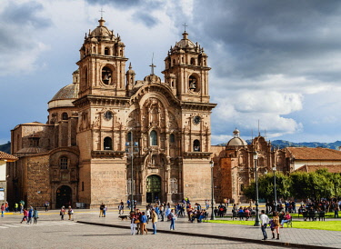 PER34225AW Church of the Society of Jesus, Main Square, Cusco, Peru