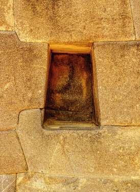 PER34273AW Trapezoidal niche, Ollantaytambo, Sacred Valley, Cusco Region, Peru