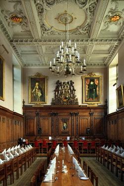 ENG15015AW Europe, United Kingdom, England, Cambridge, Cambridge University, Clare College Great Hall