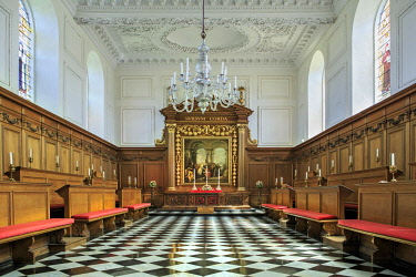 ENG15027AW Europe, United Kingdom, England, Cambridge, Cambridge University, Emmanuel College, interior of the Christopher Wren designed college chapel