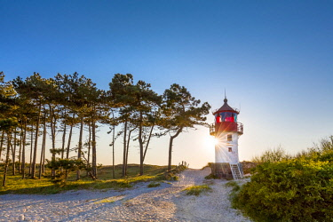 GER10550AW Lighthouse, Gellen, Hiddensee island, Mecklenburg-Western Pomerania, Germany