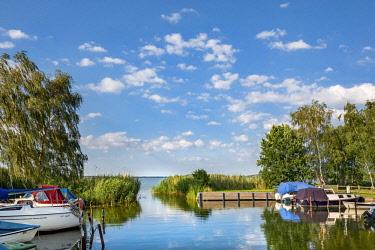 GER10578AW Marina, Balm, Achterwasser, Usedom island, Mecklenburg-Western Pomerania, Germany