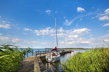 GER10579AW Marina, Balm, Achterwasser, Usedom island, Mecklenburg-Western Pomerania, Germany