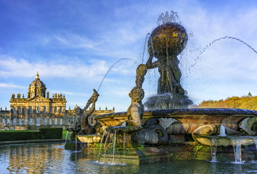 ENG15087AW Europe, England, North Yorkshire, Castle Howard, Atlas Fountain