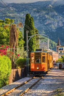 SPA7360AW Tranvia de Soller heritage tramway, Soller, Majorca, Balearic Islands, Spain