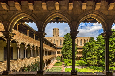 SPA7368AW The Gothic Monastery of Pedralbes, Barcelona, Catalonia, Spain