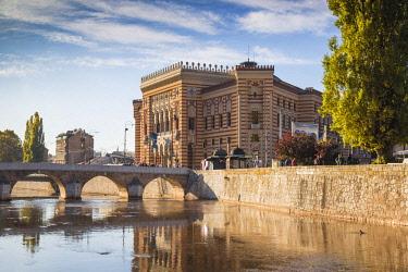 BH01091 Bosnia and Herzegovina, Sarajevo, Bascarsija - The Old Quarter, Town Hall (Vijecnica)