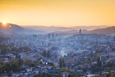 BH01115 Bosnia and Herzegovina, Sarajevo, View of Sarajevo City