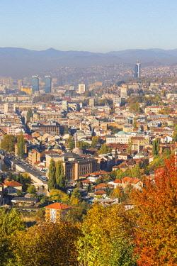 BH01176 Bosnia and Herzegovina, Sarajevo, View of Sarajevo
