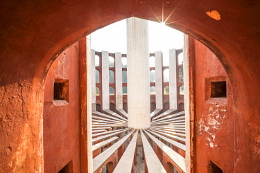 IN01215 Jantar Mantar (architectural astronomy instruments built in 1724), New Delhi, India