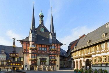IBLGAB04294191 Town Hall, Wernigerode, Harz, Saxony-Anhalt, Germany, Europe