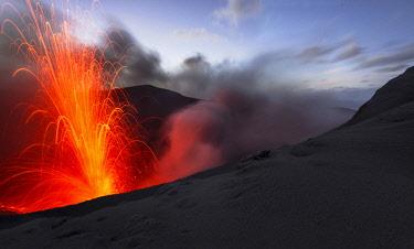 IBLKWR03986345 Eruption of Mount Yasur volcano, Tanna Island, Vanuatu, Oceania