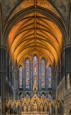 ENG15155AW Europe, England, Worcestershire, Worcester, Worcester Cathedral Interior