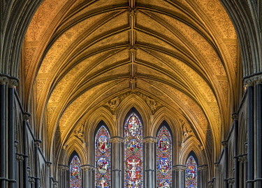 ENG15167AW Europe, England, Worcestershire, Worcester, Worcester Cathedral Interior