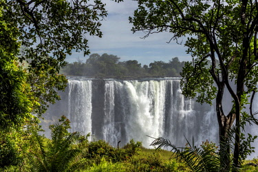 ZIM2696AW Africa, Zimbabwe, Matabeleland north. The Victoria Falls with low water