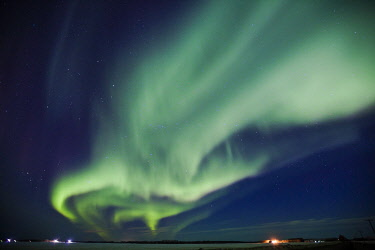 ARKICH012454 Northern Lights on sky in northern Alberta, Canada