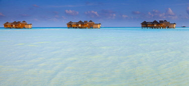 ARDASE000428 Three stilt huts above sea, Gili Lankanfushi, Maldives