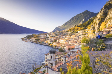 CLKAB73957 Limone sul Garda, Garda Lake, Brescia province, Lombardy, Italy