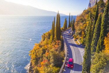 CLKAB73973 Gardesana Occidentale scenic route, Garda Lake, Brescia province, Lombardy, Italy