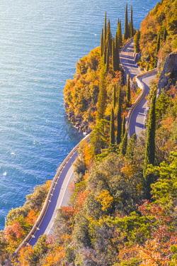 CLKAB73982 Gardesana Occidentale scenic route, Garda Lake, Brescia province, Lombardy, Italy