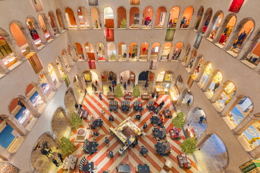 CLKMG74925 Inside view of the luxury shopping center Fondaco dei Tedeschi in Venice, Veneto, Italy