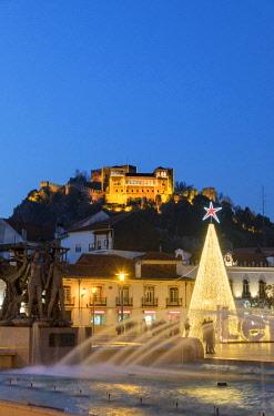 POR9698AW Leiria castle dating back to the 12th century. Portugal