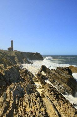 POR9714AW The rocky coast of Sao Pedro de Moel. Marinha Grande, Leiria. Portugal